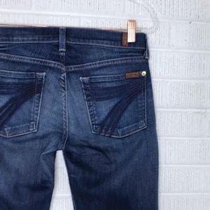7FAMK Dojo Jeans Trouser Wide Leg Sz 27